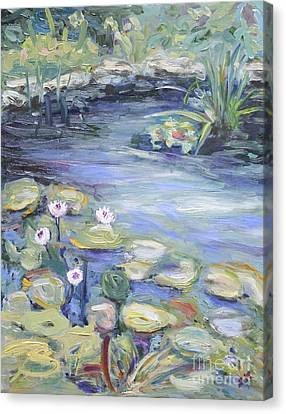 Pond In Berlin Canvas Print by Barbara Anna Knauf