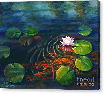 Pond Jewels Canvas Print by Pat Burns