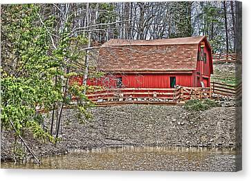 Canvas Print featuring the photograph Pond Overlook 2 by Greg Jackson