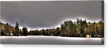 Pond Panorama Canvas Print by David Patterson