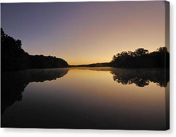 Pond Sunrise Canvas Print by Mimi Katz