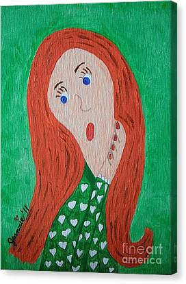 Pondering Redhead Canvas Print by Jeannie Atwater Jordan Allen