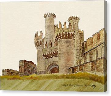 Ponferrada Templar Castle  Canvas Print by Angeles M Pomata