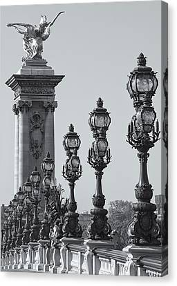 Pont Alexander IIi Detail Bw Canvas Print by Clarence Holmes