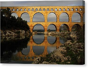 Reflection Canvas Print - Pont Du Gard by Boccalupo Photography