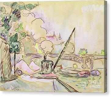 Pont Du Louvre Canvas Print