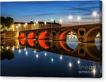 Canvas Print featuring the photograph Pont Neuf In Toulouse by Elena Elisseeva