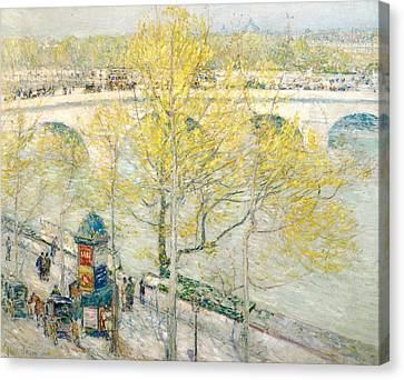 Pont Royal Paris Canvas Print by Childe Hassam