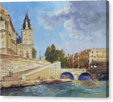 Canvas Print - Pont Saint Michel, Paris by Irek Szelag
