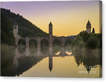 Medieval Entrance Canvas Print - Pont Valentre - Cahors by Brian Jannsen