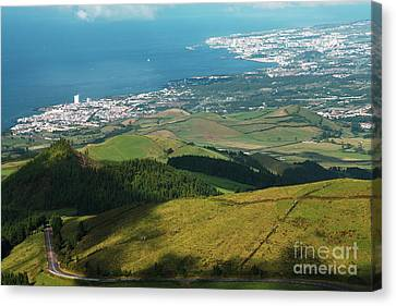 Ponta Delgada And Lagoa Canvas Print