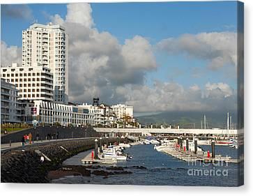 Ponta Delgada Waterfront Canvas Print by Gaspar Avila