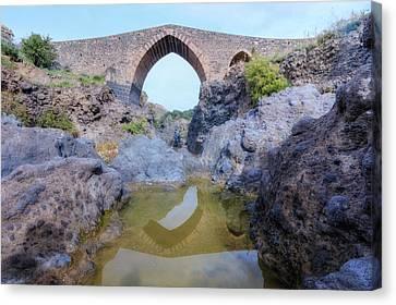 Ponte Dei Saraceni - Sicily Canvas Print by Joana Kruse