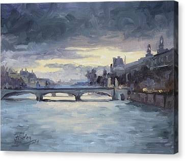 Canvas Print - Pont Du Carrousel, Paris by Irek Szelag