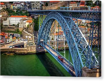 Dom Canvas Print - Ponte Luis Porto Portugal  by Carol Japp