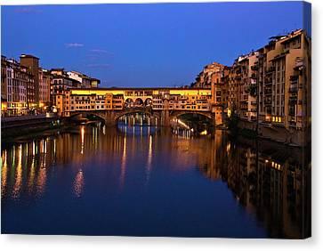 Ponte Vecchio Dusk  Canvas Print by Harry Spitz