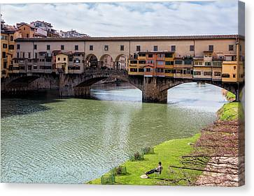Canvas Print featuring the photograph Ponte Vecchio Florence Italy II by Joan Carroll
