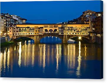 Ponte Vecchio Canvas Print by Frozen in Time Fine Art Photography
