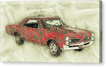 Canvas XXL Pop Art Muscle Car USA Abstract Art Print Wall Poster