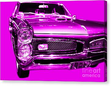 Pontiac Gto Magenta Canvas Print by Wingsdomain Art and Photography