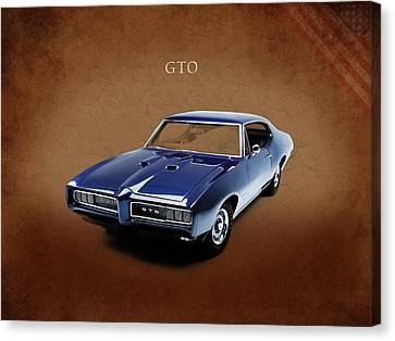 Pontiac Canvas Print - Pontiac Gto by Mark Rogan