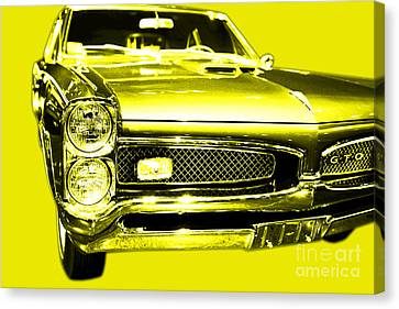 Pontiac Gto Yellow Canvas Print by Wingsdomain Art and Photography