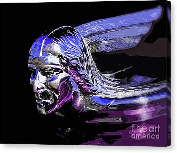 Canvas Print featuring the photograph Pontiac Indian Head Hood Ornament by Patricia L Davidson