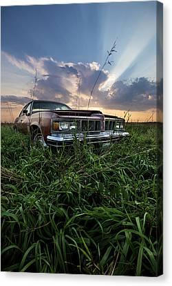 Gravel Road Canvas Print - Pontiac Sunset  by Aaron J Groen