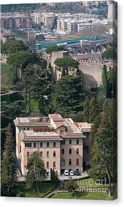 Pontificio Collegio Etiopico Pontifical Ethiopian College Vatican City Gardens Rome Italy Canvas Print by Andy Smy
