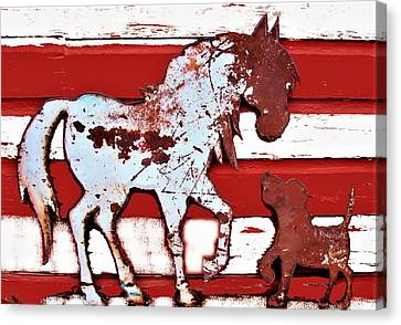 Pony And Pup Canvas Print