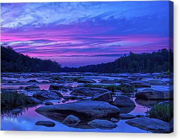 Canvas Print featuring the photograph Pony Pasture Sunset by Jemmy Archer