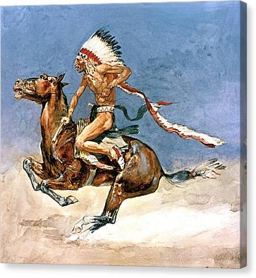 Pony War Dance Canvas Print by Frederic Remington