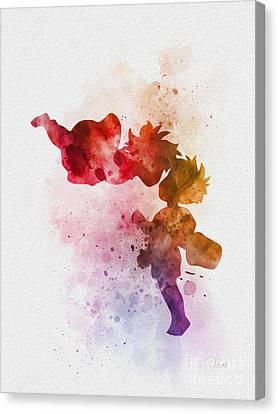 Ponyo Canvas Print by Rebecca Jenkins