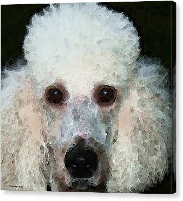 Animal Lover Canvas Print - Poodle Art - Noodles by Sharon Cummings