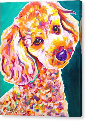 Poodle - Curly Canvas Print