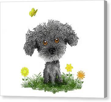Poodle Puppy Canvas Print by Susan Carter