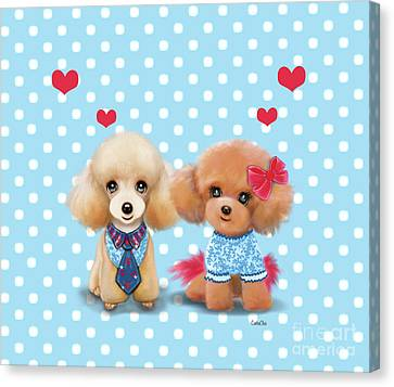 Poodles Are Love Canvas Print
