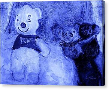 Pooh Bear And Friends Canvas Print by Denise Fulmer