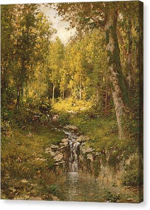 Pool In The Woods Canvas Print by Alexander Helwig  Wyant
