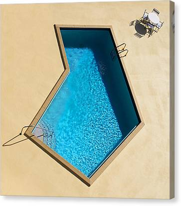 Canvas Print featuring the photograph Pool Modern by Laura Fasulo
