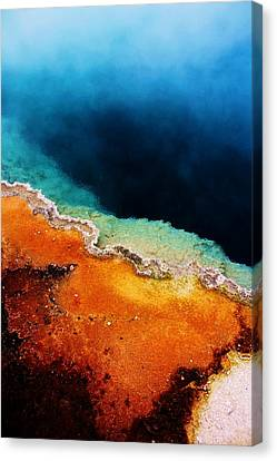 Pool Of Many Colors Canvas Print by Russell  Barton