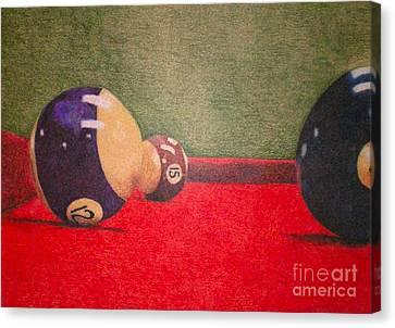 Pool Table Canvas Print by Simonne Mina