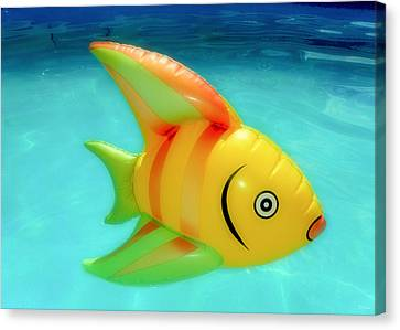 Pool Toy Canvas Print by Tony Grider