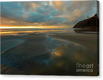 Pools Of Fire Canvas Print by Mike Dawson