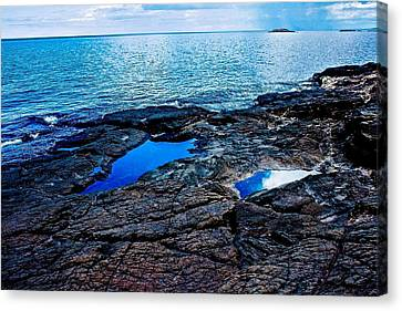 Pools On Black Rocks 2 Canvas Print