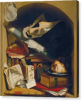 Poor Artist's Cupboard Canvas Print by Charles Bird King