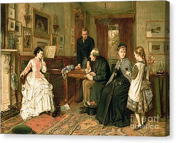 Victorian Canvas Print - Poor Relations by George Goodwin Kilburne