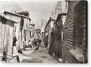 Poor Tenements In England During The Canvas Print
