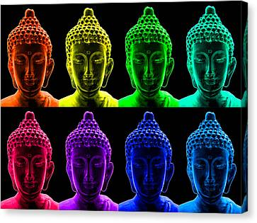 Pop Art Buddha  Canvas Print by Fabrizio Troiani