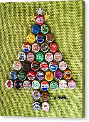 Pop Art Christmas Tree Canvas Print